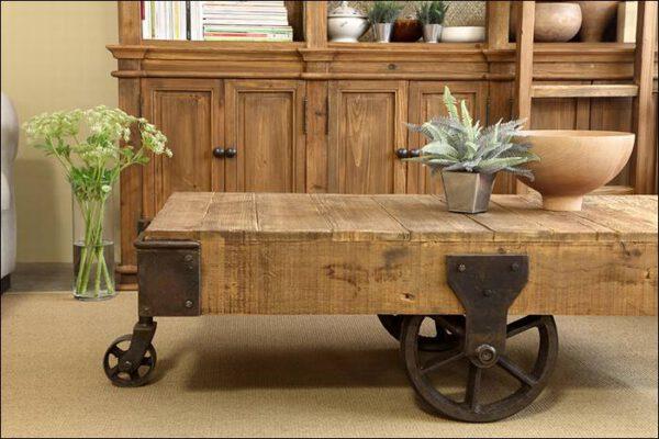 שולחן סלון אורבני סדרת עץ אלון Wild