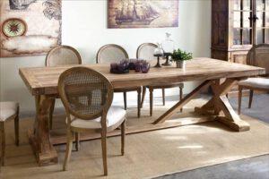 שולחן אוכל רגל X איקס – פא-020105