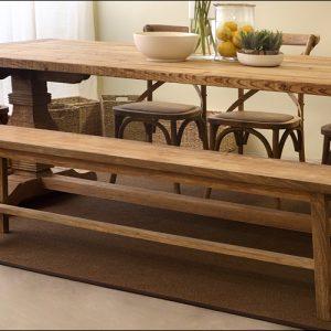 ספסל עץ מלא