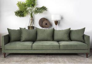 ספה בצבע ירוק