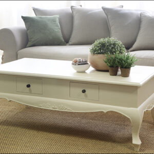 שולחן סלון מעוצב לבן