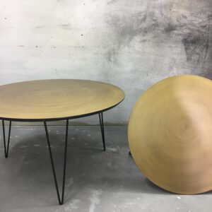 שולחן סלון מעוצב עגול