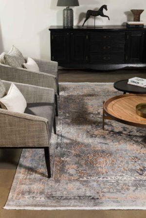שטיח צמר וינטג' משולב צבעים